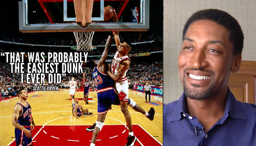 Scottie Pippen On His Dunk On Patrick Ewing – Best & Most Disrespectful Poster Of All-Time