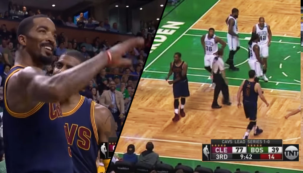 J.R. Smith Tells Boston Fans They Are Going To Get Swept