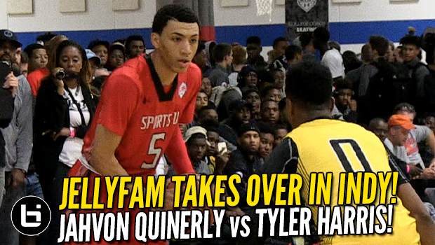 JellyFam Takes Over In Indy! Jahvon Quinerly vs Tyler Harris Highlights!