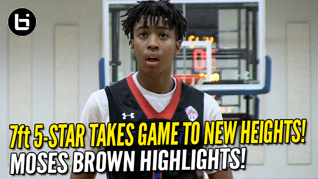 7'1 five-star Moses Brown Takes Game to New Heights! UAA Highlights!