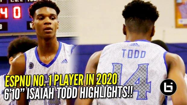 Could 2020 ESPN no .1 Isaiah Todd Be the Next DMV Product to the NBA?! Season Highlights!