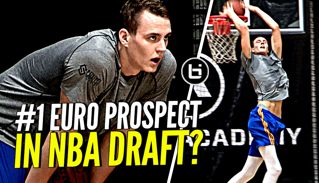 #1 Euro Prospect In NBA Draft? 7'2″ Anzejs Pasecniks NBA Draft Workout Session!