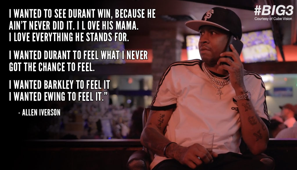 Allen Iverson Watches The Warriors Win The NBA Finals, Explains Why He Wanted KD To Win