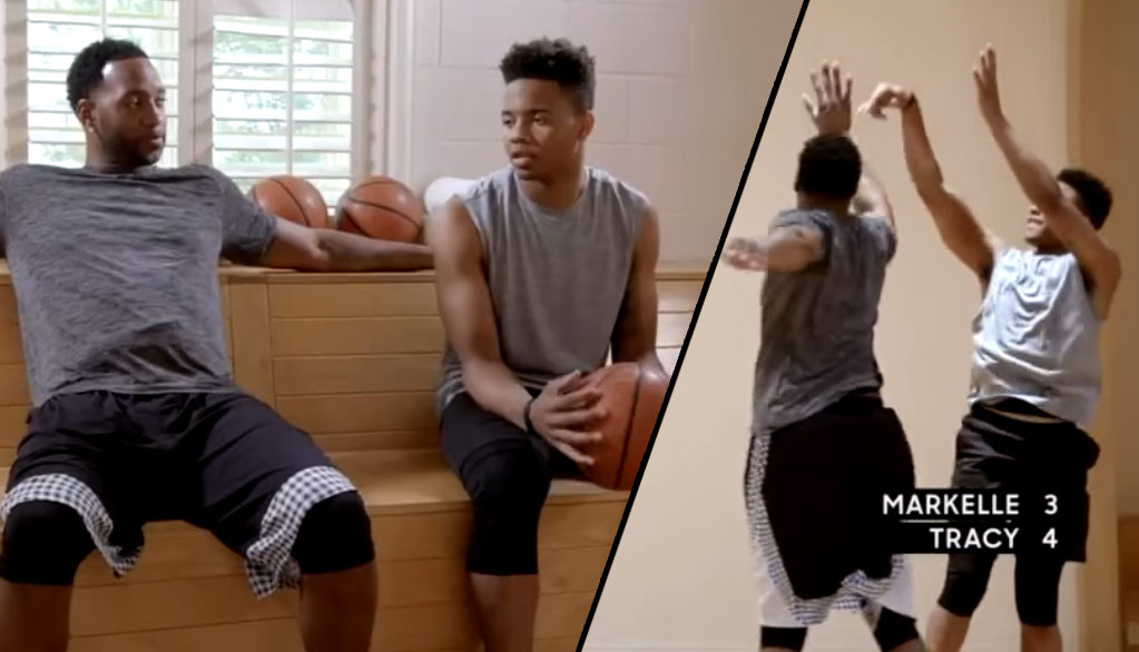 Tracy McGrady Plays 1-on-1 With Potential #1 Pick Markelle Fultz