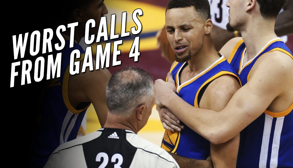 Compilation Mix Of The Worst Calls From Game 4 Of The 2017 NBA Finals
