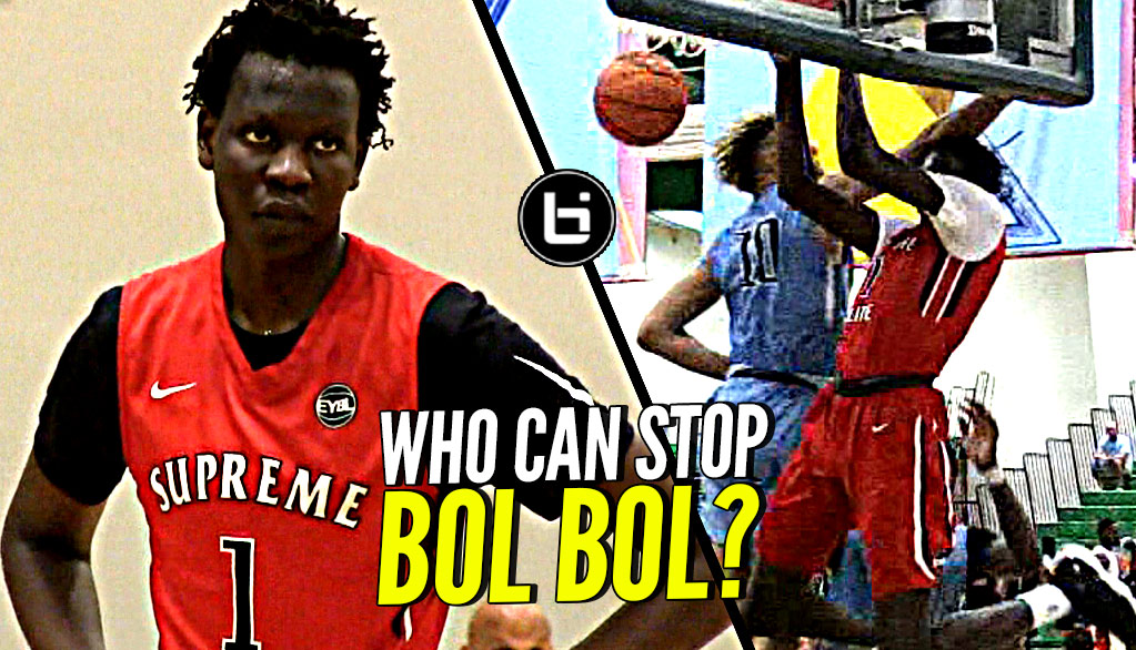 Can ANYONE Stop Bol Bol!? Wins MVP of Nike EYBL! All His Best EYBL Highlights!
