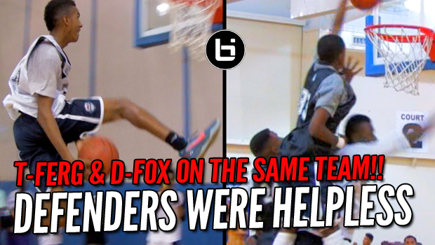 """Mama I Don't Wanna Play Against De'Aaron Fox & T-Ferg"" 10th Grade Raw Highlights"