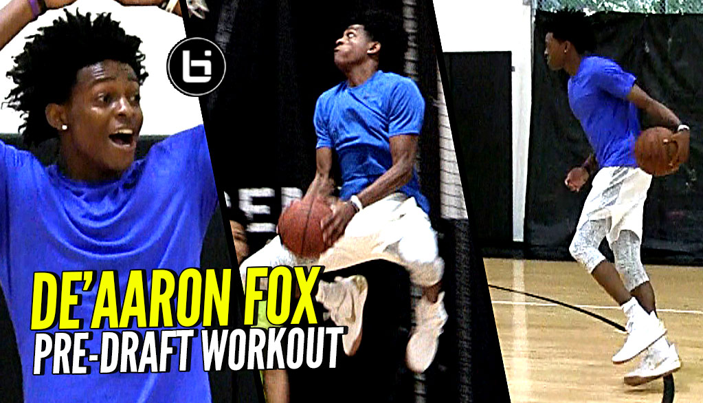De'Aaron Fox NBA Draft Workout Light Session! Quickest Player In The NBA Draft??