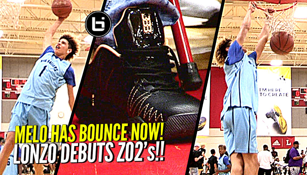 LaMelo Ball DUNKING WITH EASE NOW + Lonzo Debuts His ZO2 Shoes In Public!!
