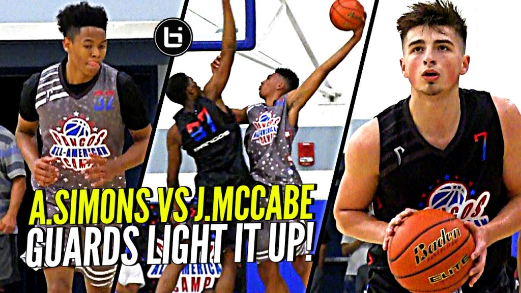 Jordan McCabe vs Anfernee Simons Have a SHOOT OUT at Pangos All American Camp!