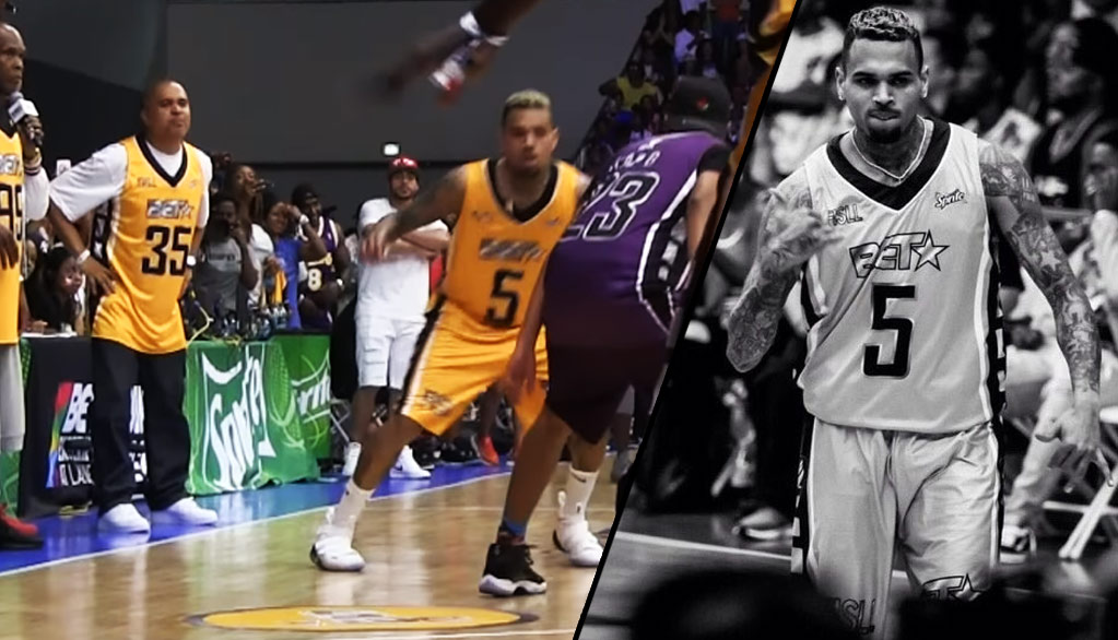 Chris Brown Wins Co-MVP, Hits Dagger Three During Wild Finish At BET Celeb Basketball Game