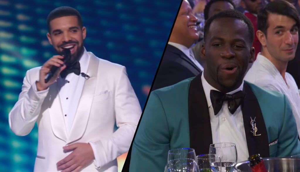 Drake Roasts LeBron & Defensive Player Of The Year Draymond Green At NBA Awards