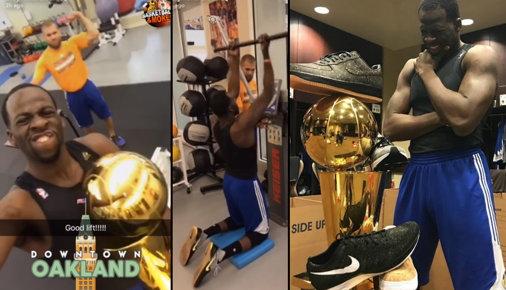 Draymond Green Hits The Gym A Day After Winning A Championship | Draymond's Body Transformation