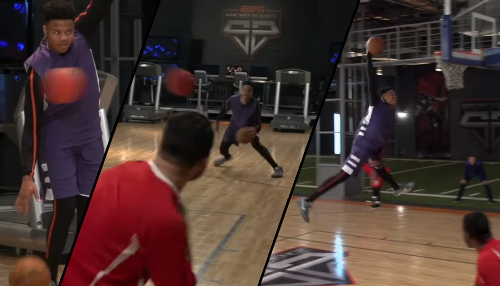 Markelle Fultz Shows Off His Handles & Hops By Taking On A Pro Dodgeball Team