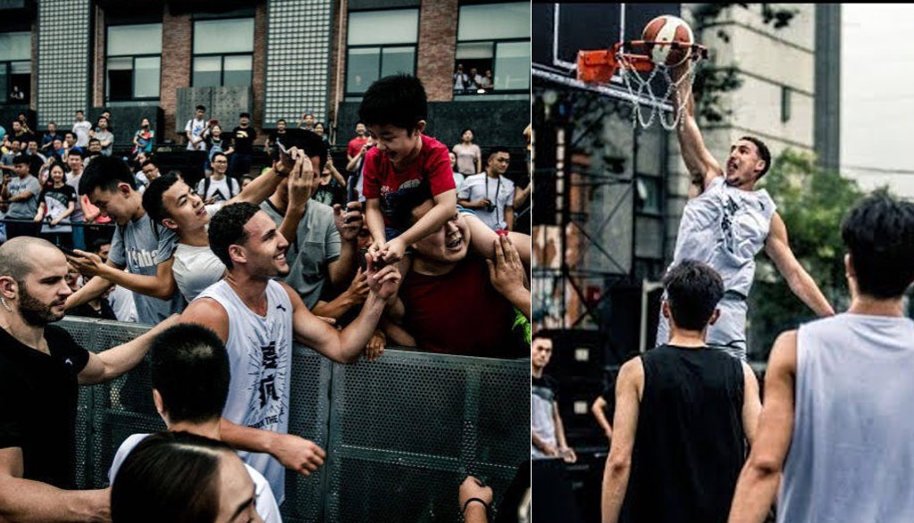 Klay Thompson Missed Another Wide-Open Dunk In China But Finally Made A 360!