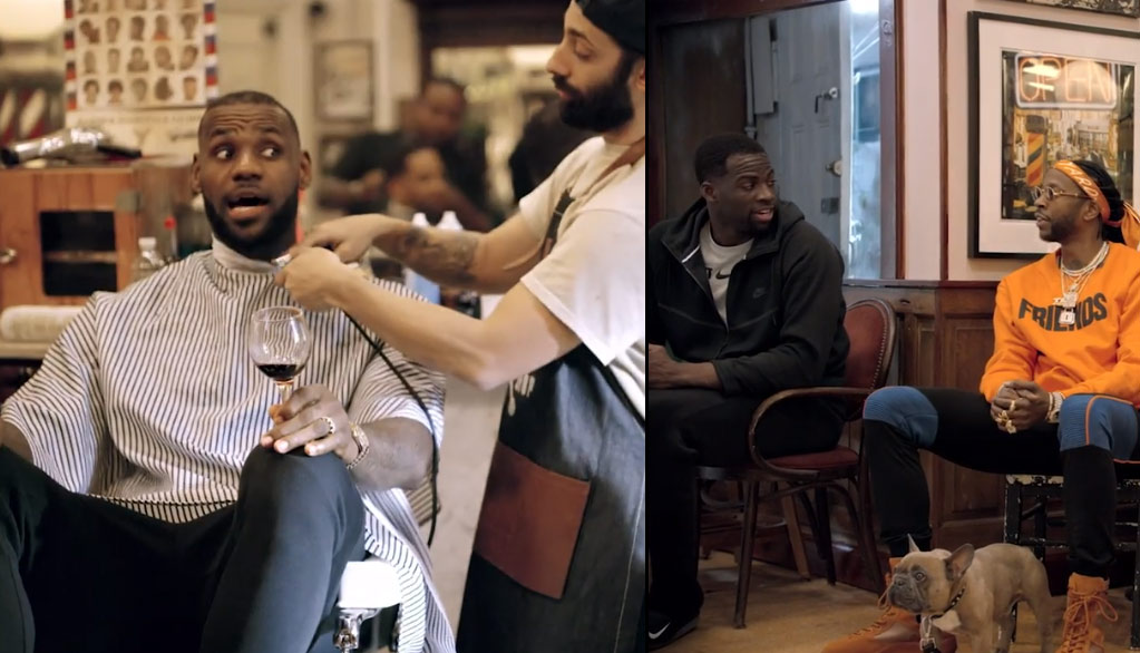 LeBron, Draymond Green & 2 Chainz Talk NBA Finals, Football & Music At 'The Shop'