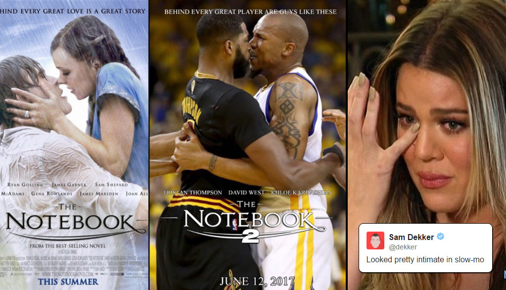 The Internet & NBA Players Hilariously React To Tristan Thompson & David West's Kiss From GM5 aka The Notebook 2