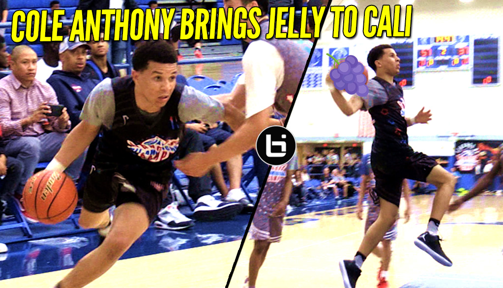 Cole Anthony Brings That NYC Flavor To Cali; Jellyfam Time!
