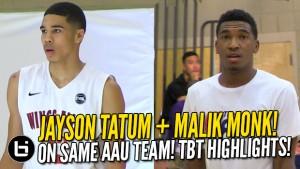 Jayson Tatum MAlik Monk | Ballislife.com