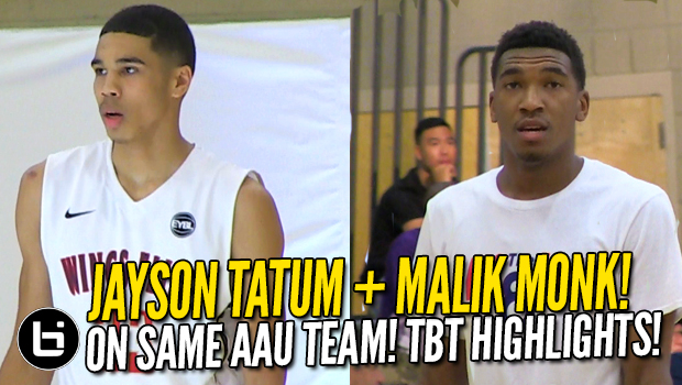 Malik Monk, Jayson Tatum on Same AAU Team vs Miles Bridges! Throwback Highlights!