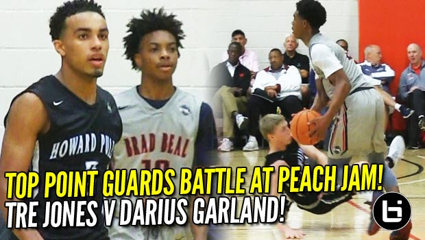 Tre Jones VS Darius Garland! Top Point Guards BATTLE It Out At Peach Jam Elite 8!