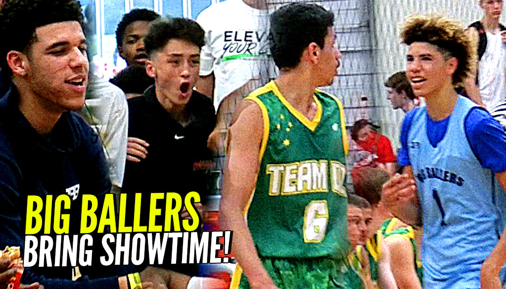 LaMelo Ball TOYING w/ Defenders w/ Lonzo Watching! Big Ballers SPANK Poor Australian Team!