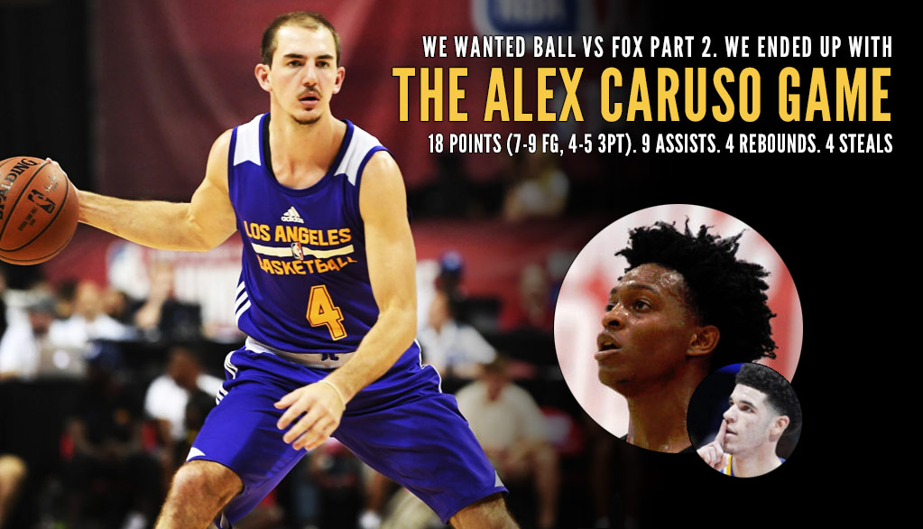 Undrafted Alex Caruso Impresses Against De'Aaron Fox In Place Of Resting Lonzo Ball