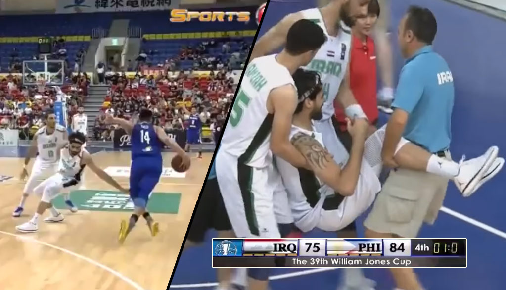 PBA All-Star Kevin Ferrer Literally Breaks Iraqi Player's Ankles In The Final Second Of A Game