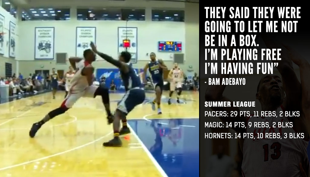 Heat's Draft Steal Bam Adebayo Shows Off His Euro-Step, Puts Up 29 & 11 vs Pacers
