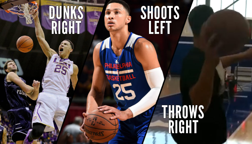 Ben Simmons Makes Full Court Shot With His Right Hand! Is He A Lefty or Righty?