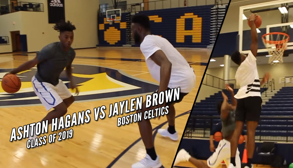 Celtics Jaylen Brown 1-on-1 With Class of 2019 5-Star Guard Ashton Hagans