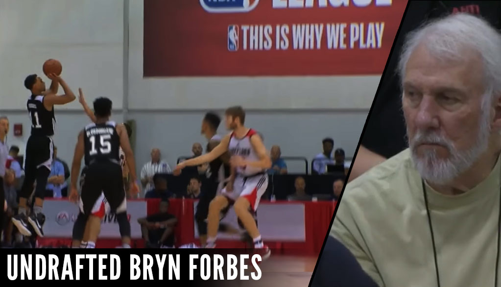 The Spurs Undrafted Gem, Bryn Forbes, Scores 35 Again with 6 Threes!