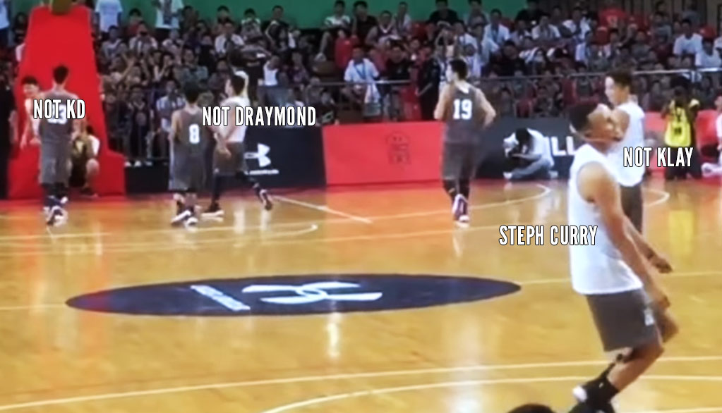 Steph Curry Can't Get An Assist With His Chinese Teammates