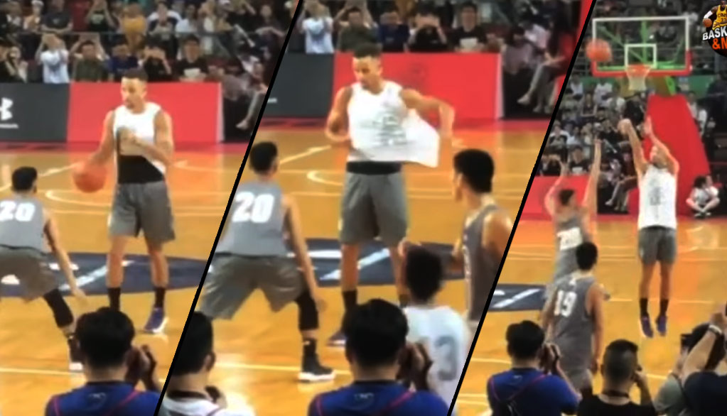 Steph Curry Pulling Out Throwback And1 Streetball Moves In China Basketball Game