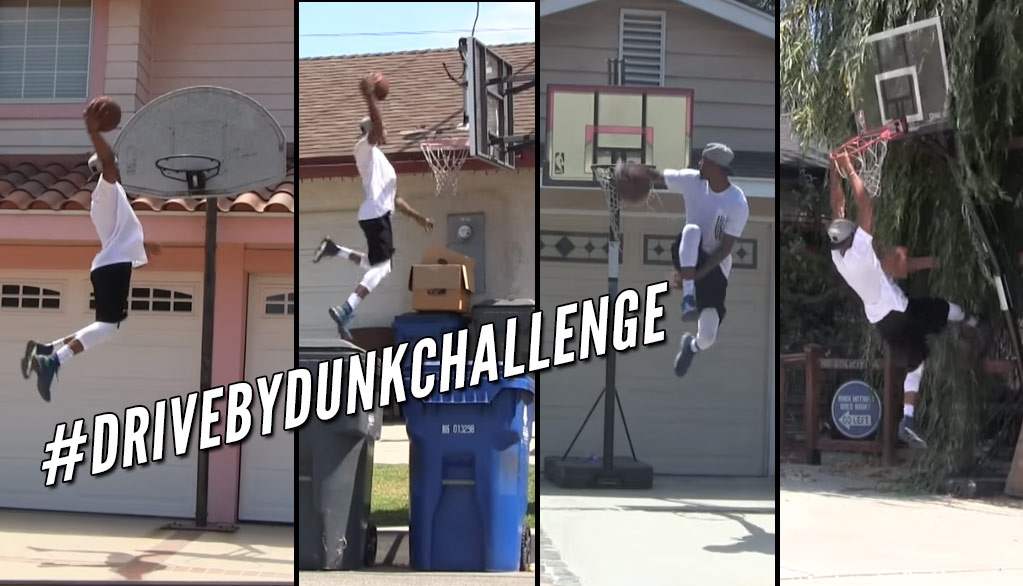 Best of NBA Players & Pro Dunkers Doing The #DriveByDunkChallenge