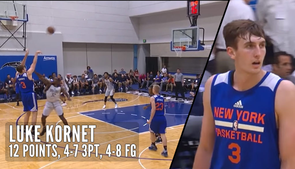Knicks Undrafted 7'1 Center Scores 12 Points on 4 for 7 3-Point Shooting In Summer League