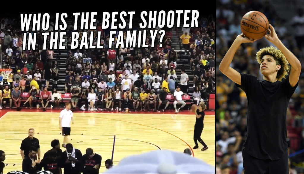 LaMelo Ball Shows Off His 3-Point Touch In A Shooting Contest During Lonzo's Lakers Debut