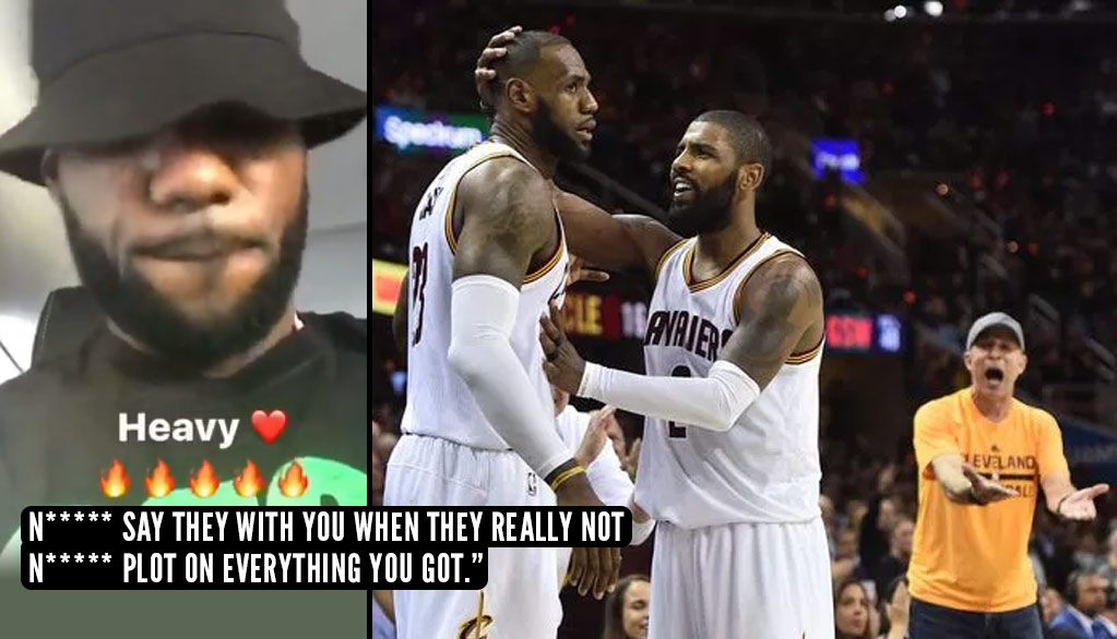 Did LeBron Take A Shot At Kyrie Irving With This Video Of Him Listening To Meek Mill