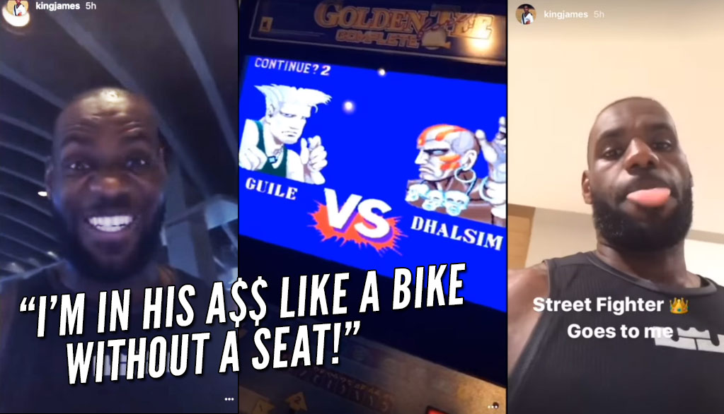 LeBron James Gets Real Hype Destroying A Guy In Street Fighter II