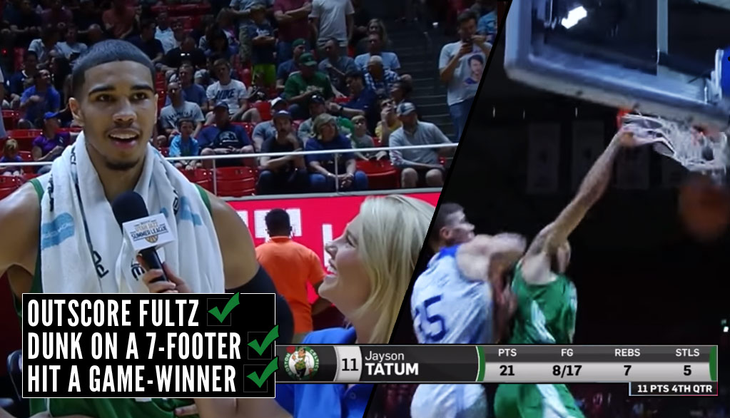 Jayson Tatum Hits Game-Winner In Summer League Debut vs Markelle Fultz