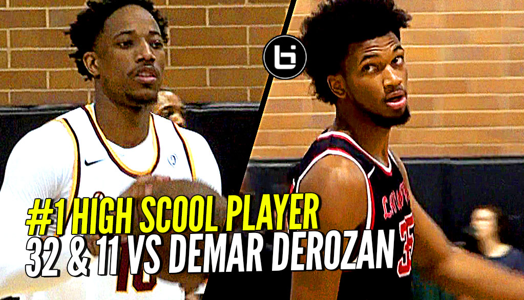 #1 High School Player Drops 32 & 11 vs NBA ALL-Star! Marvin Bagley vs DeMar DeRozan!!