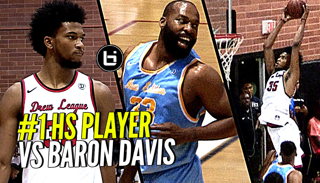 #1 High School Player vs Baron Davis! Marvin Bagley III DOES IT AGAIN at the Drew League!