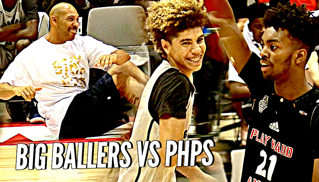 LaMelo Ball vs Future NBA Pro Jordan Brown! Big Ballers vs TOUGH Adidas Comp! LaVar CLOWNIN!