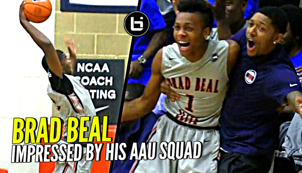 Brad Beal Gets Super HYPED as #1 PG Darius Garland, Jericole Hellems Get BBE the W at Peach Jam!!