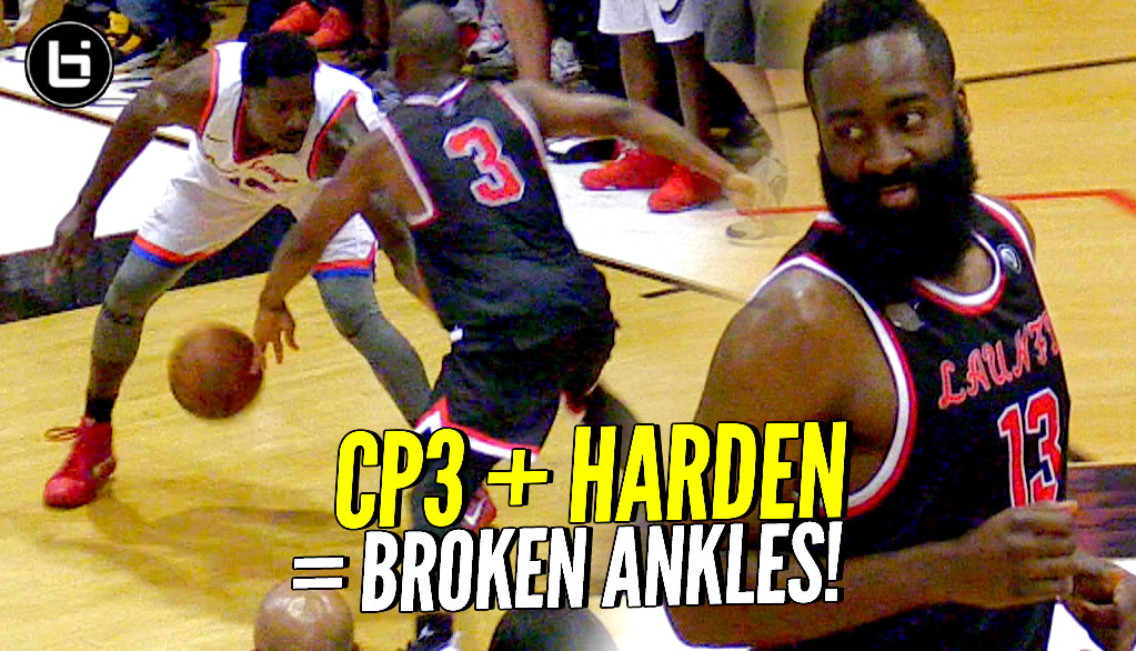 Chris Paul & James Harden BREAKING ANKLES at the DREW LEAGUE vs NBA Players! D-Wade Watching!!!