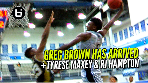 Three Of The Basketball's Best Young Hoopers in One Gym! Greg Brown, Tyrese Maxey & RJ Hampton