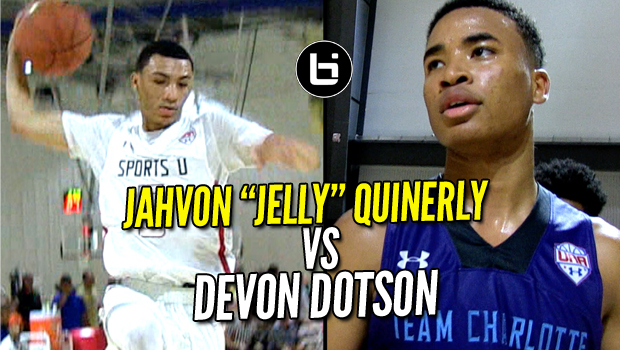 JellyFam Jahvon Quinerly VS Devon Dotson! Elite PG Battle at UA Finals
