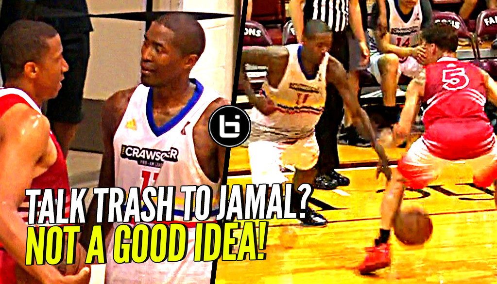 DON'T TALK TRASH TO JAMAL CRAWFORD!! NUTMEGS Defender & Hits The 3! Crawsover Pro Am FULL Highlights!