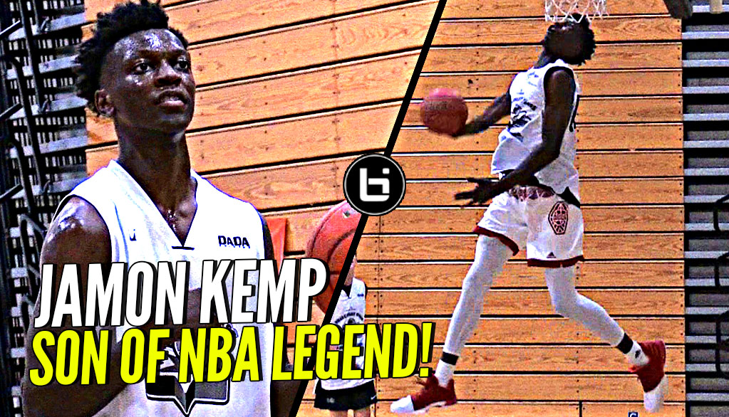 Shawn Kemp's Son Is NICE w/ the Rock! Jamon Kemp Droppin' Dimes & Windmill Dunk at Pangos!