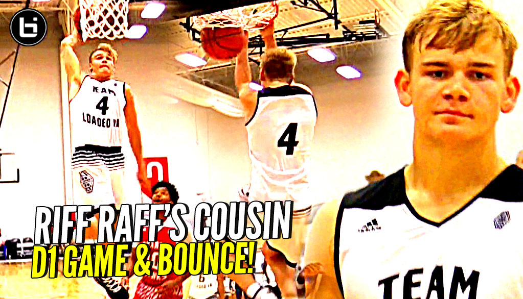 Riff Raff's Cousin Mac McClung EATING at Adidas Uprising!! D1 Game & MAJOR BOUNCE!!